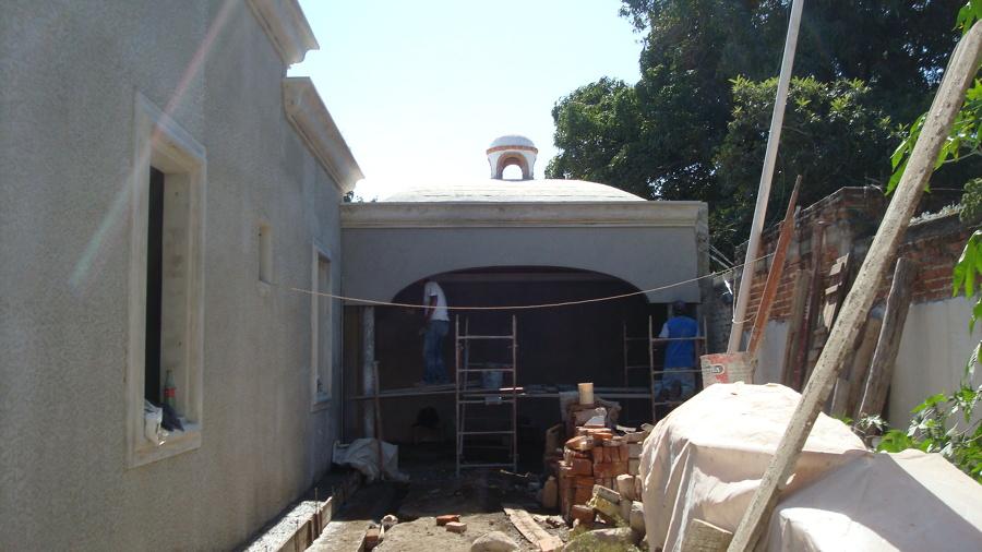 Dise o y construcci n de la terraza del proyecto gota de for Construccion de casas en terrazas