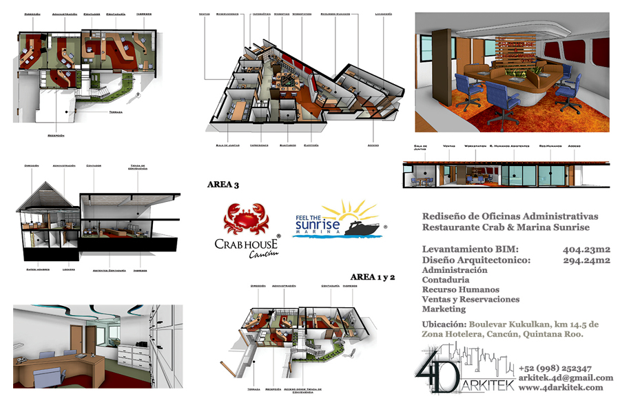 Oficinas crab house marina sunrise ideas remodelaci n oficina - Oficina de empleo la laguna ...