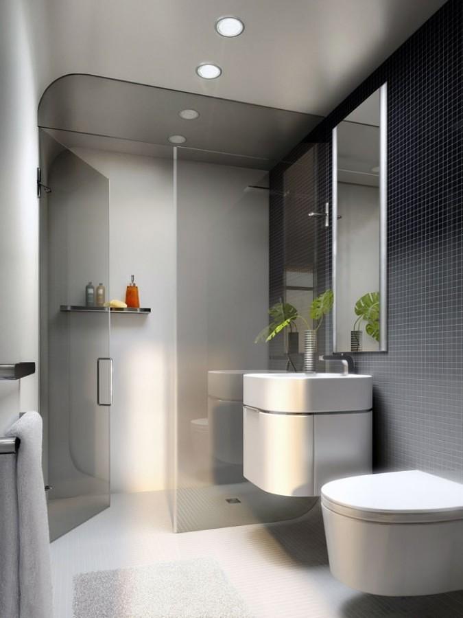 Cuarto de baño en gris