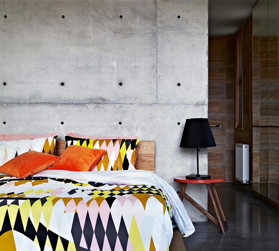 cuarto con pared de concreto