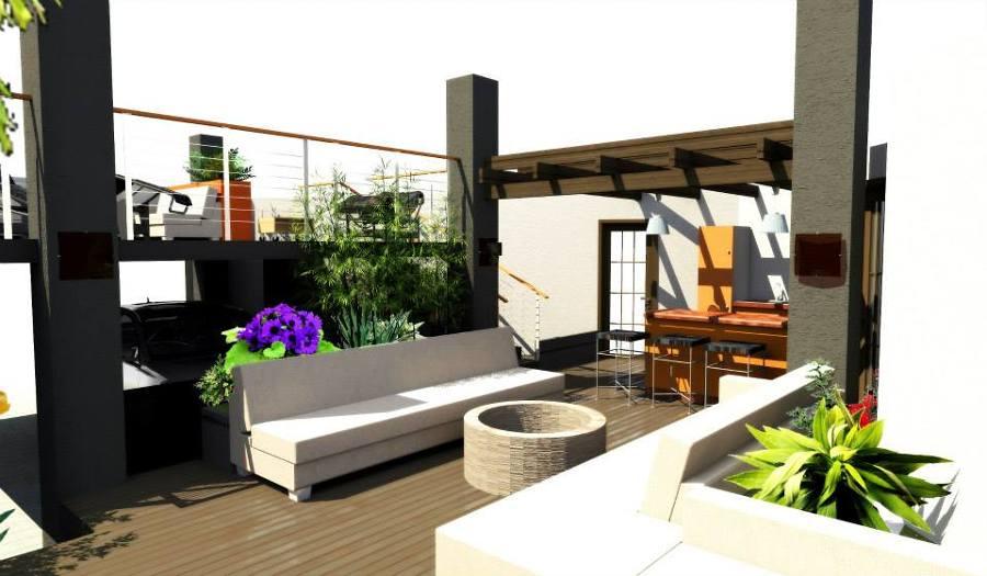 Foto patio social rosarito de j a v 69102 habitissimo for Asador de ladrillo para jardin