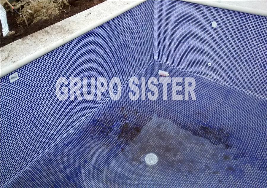 Pega azulejo azul cancun