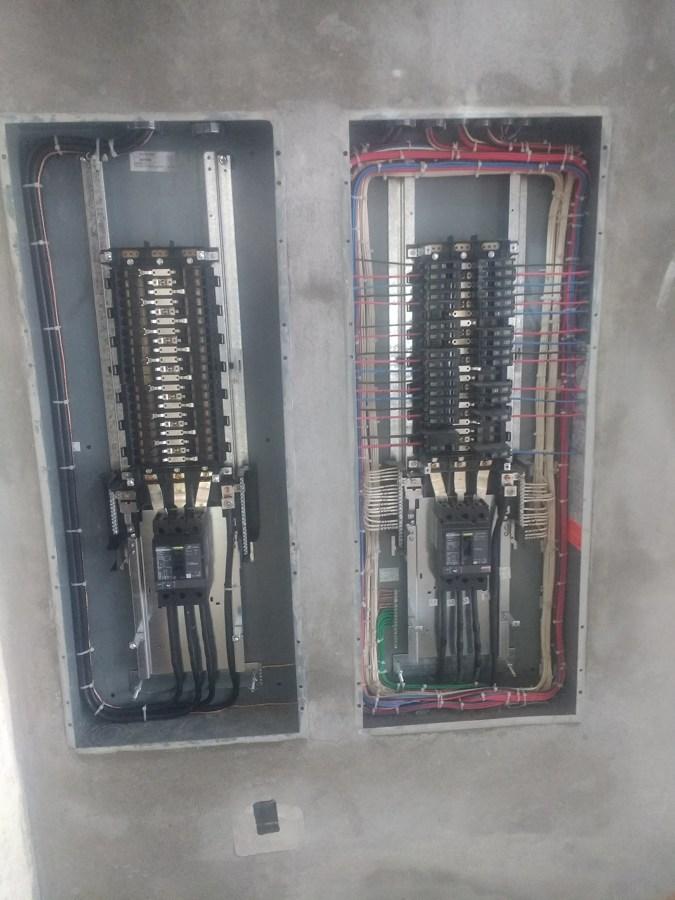 Peinado y etiquetado de tableros eléctricos