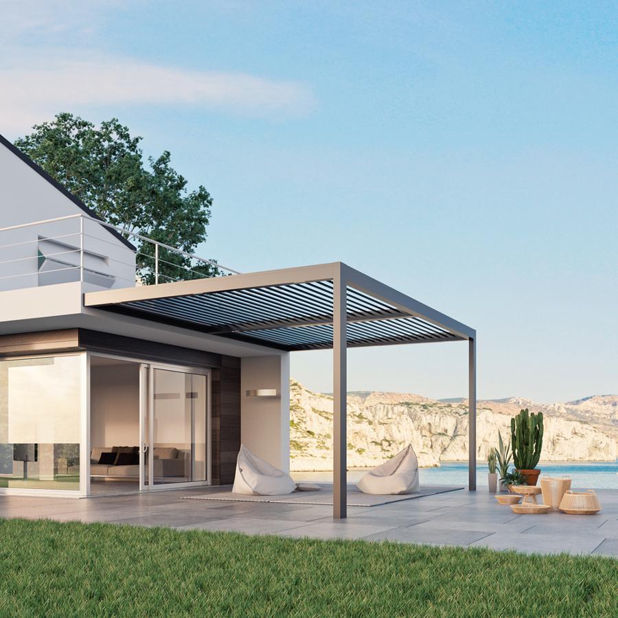 terraza con prgola bioclimtica de diseo - Pergolas Terraza