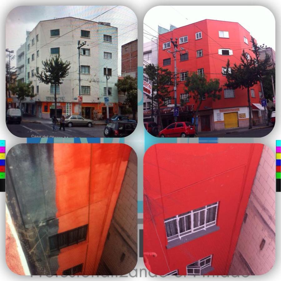 Pintura de fachada de edificio