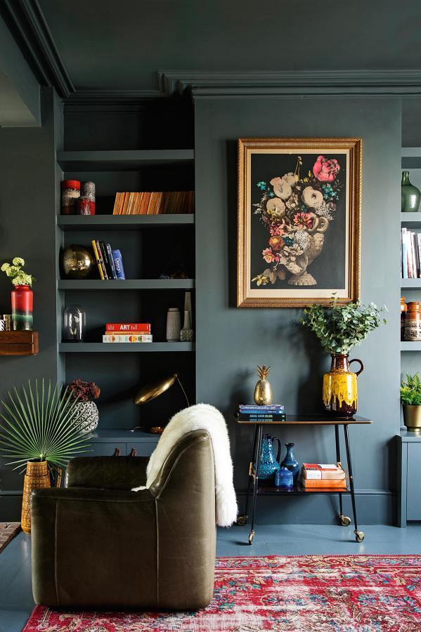 Piso, paredes y techo pintados del mismo color