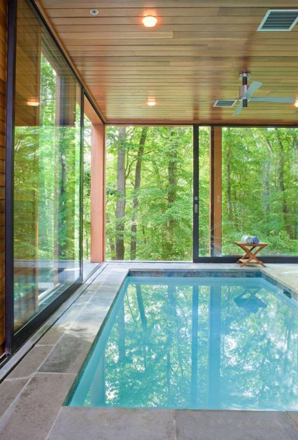 9 albercas de interior para no extra ar el verano ideas - Piscinas interiores climatizadas ...