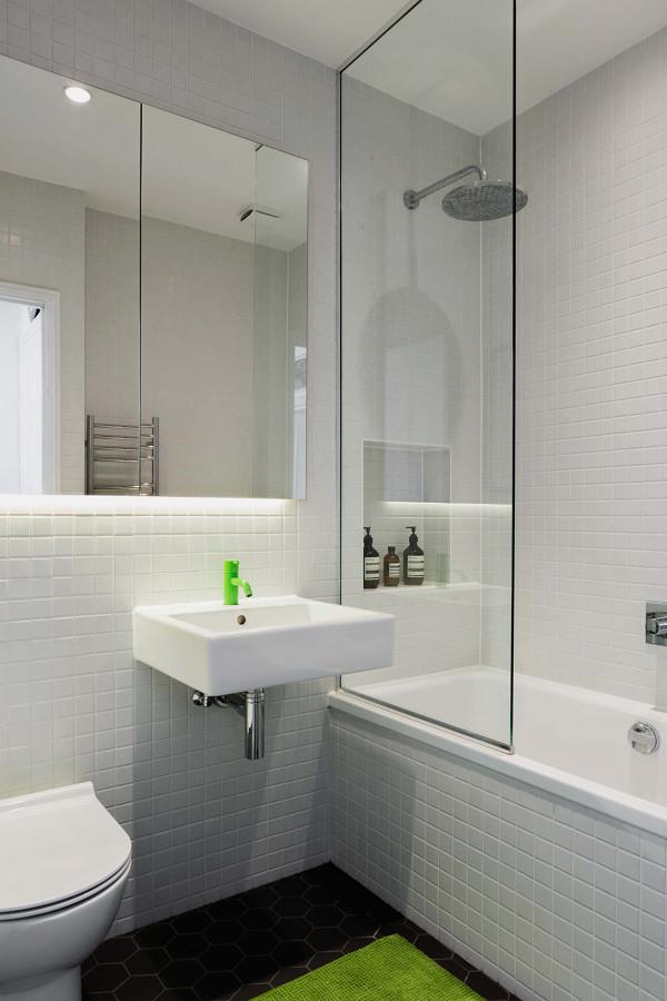 Baño con llave color verde