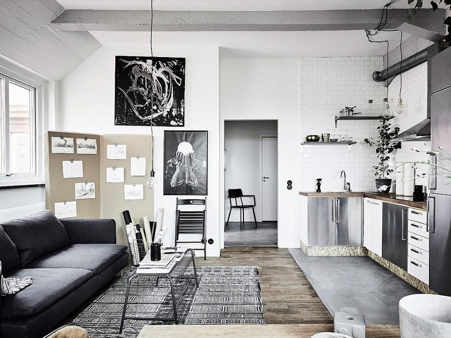 Departamento pequeño con pinturas