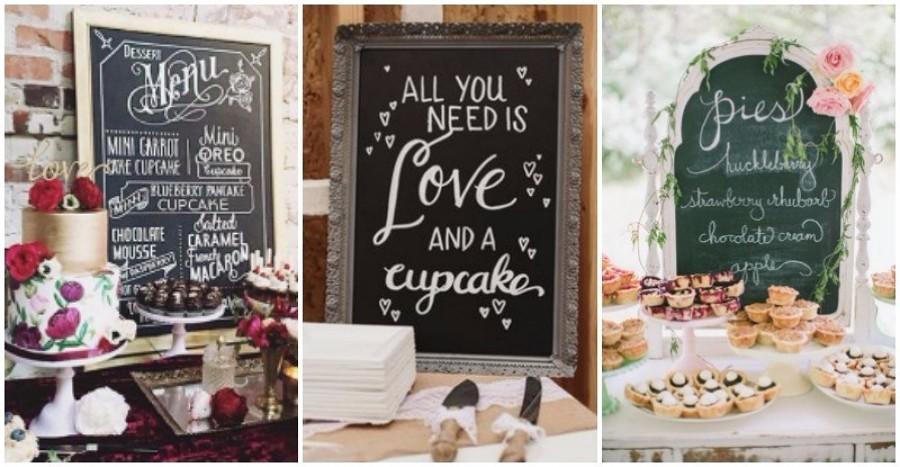 Pizarras de anuncios menu boda