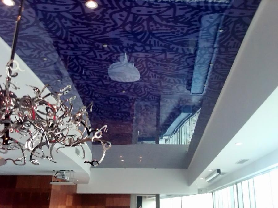 Plafond de cristal templado
