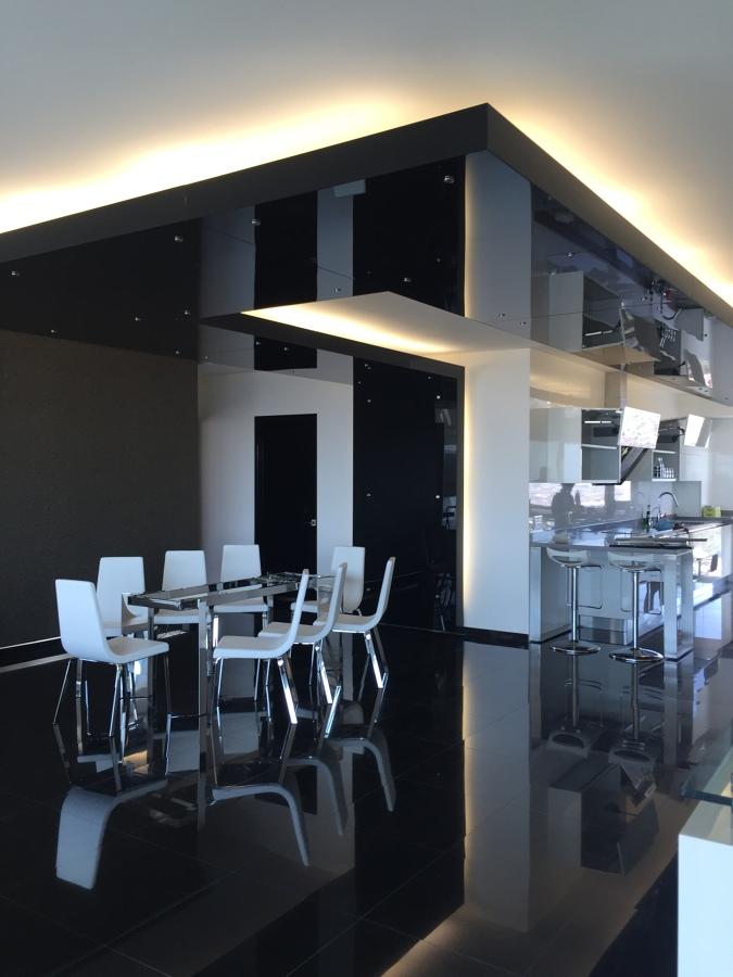 Plafond de vidrio para comedor