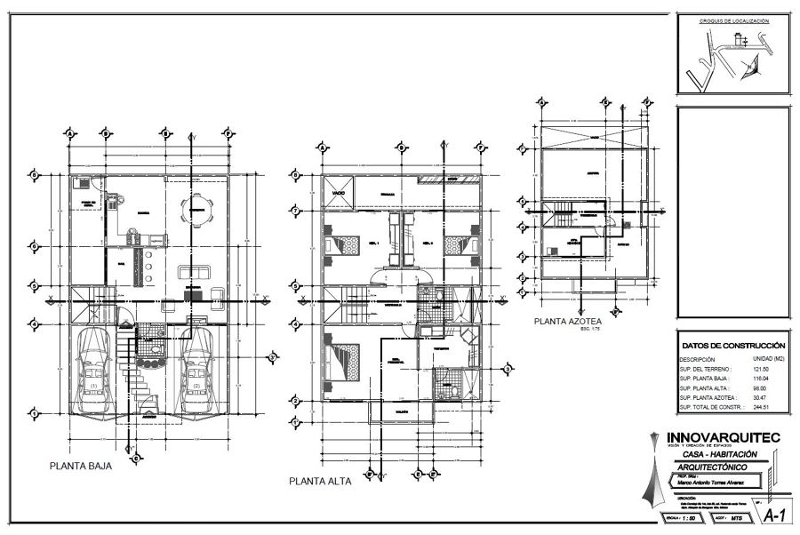 Proyecto Del Sr Marco Antonio Torres Casa Habitaci N