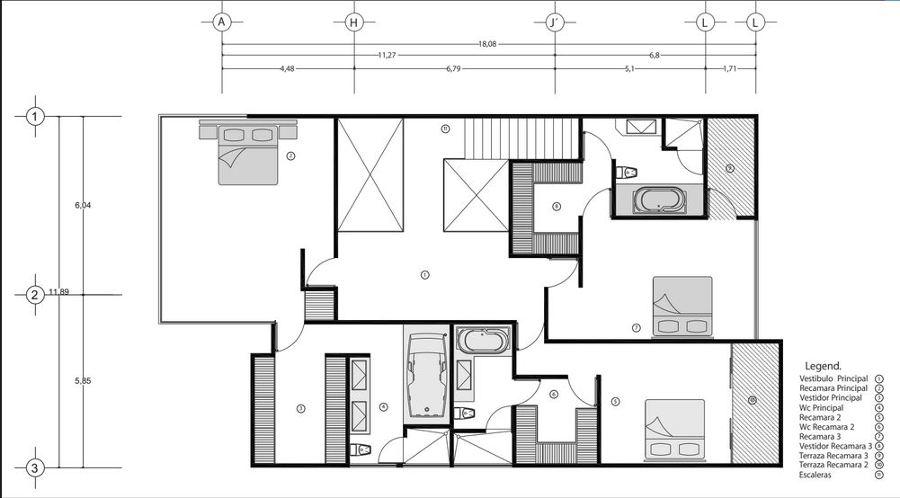 Foto plano arquitect nico casa alpes de rrj 3 for Planos de casas 6x20