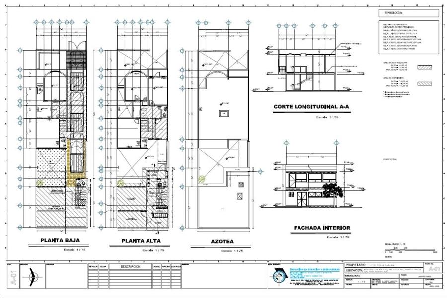 Foto plano arquit ct nico de dise o construccion y for Pie de plano arquitectonico pdf