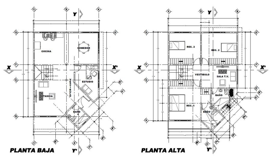Foto plano de planta baja y alta de innovarquitec 243644 - Planos casas planta baja ...