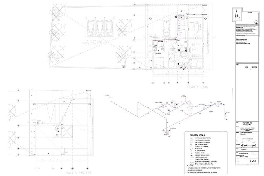 Plano instalación hidráulica