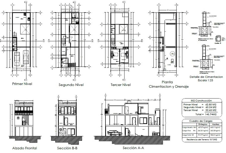 Foto planos arquitect nicos con tercer nivel de grupo for Medidas de muebles para planos arquitectonicos
