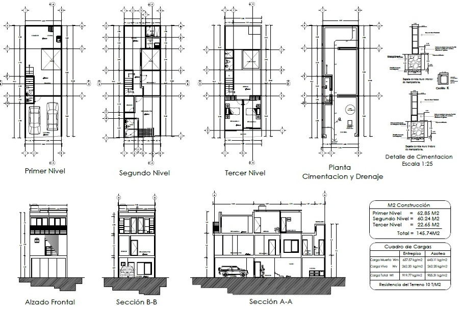 foto planos arquitect nicos con tercer nivel de grupo On niveles en planos arquitectonicos