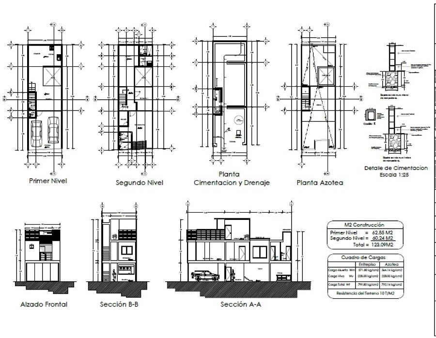 Planos arquitectónicos estado actual