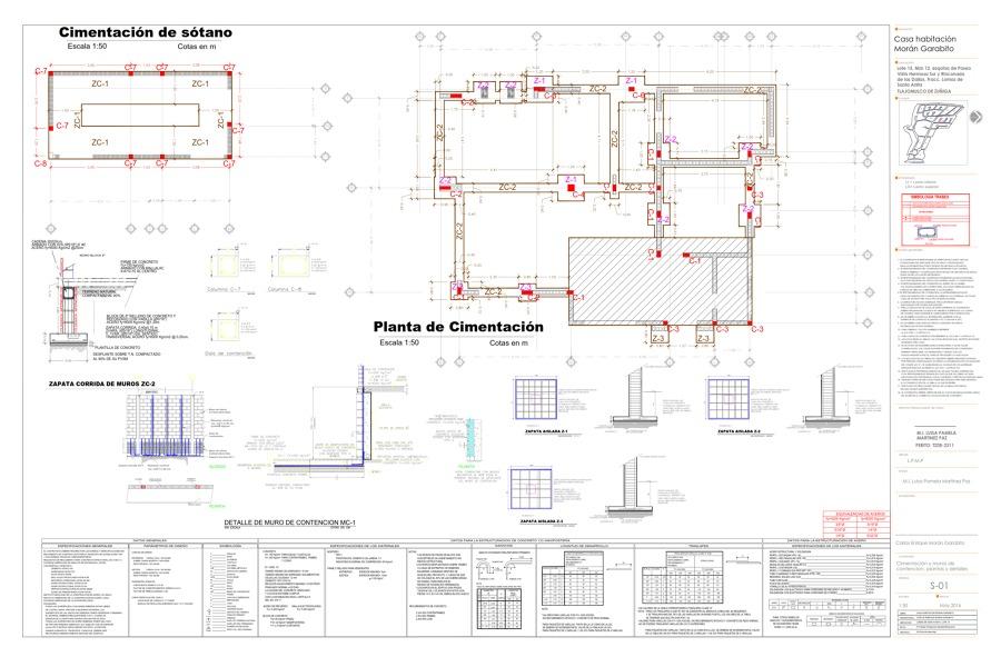 Foto planos de cimentaci n de iidcee innovaci n en for Diseno estructural de casa habitacion