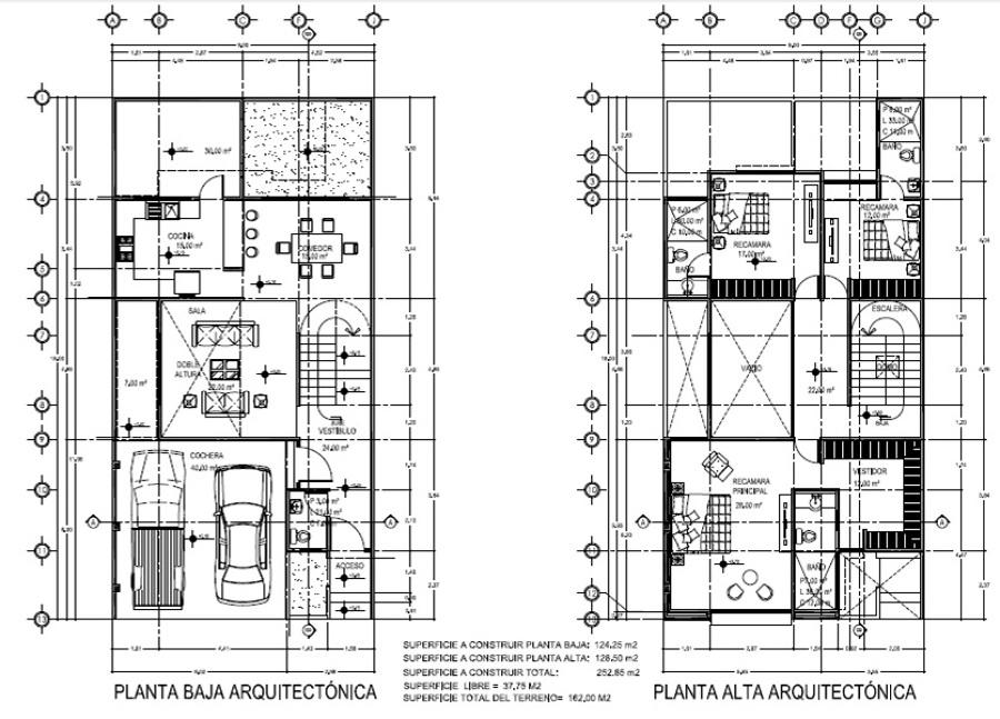 Foto planta arquitect nica de arquitectura y construcci n for Plantas arquitectonicas de casas