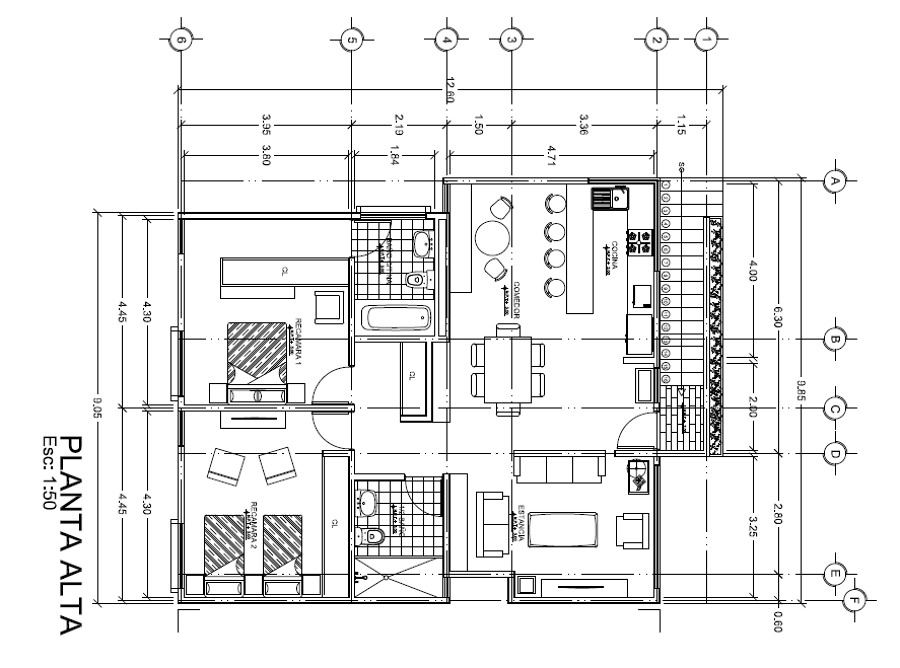 Foto planta arquitectonica de alfariarquitectos 155099 for Oficinas planta arquitectonica
