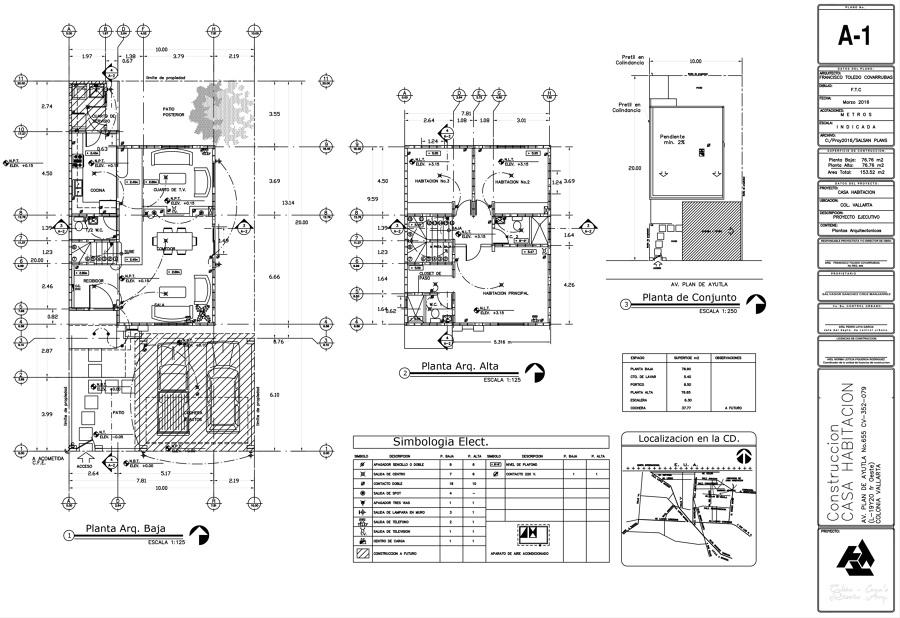 Foto planta arquitectonica de toledo asociados for Niveles en planos arquitectonicos