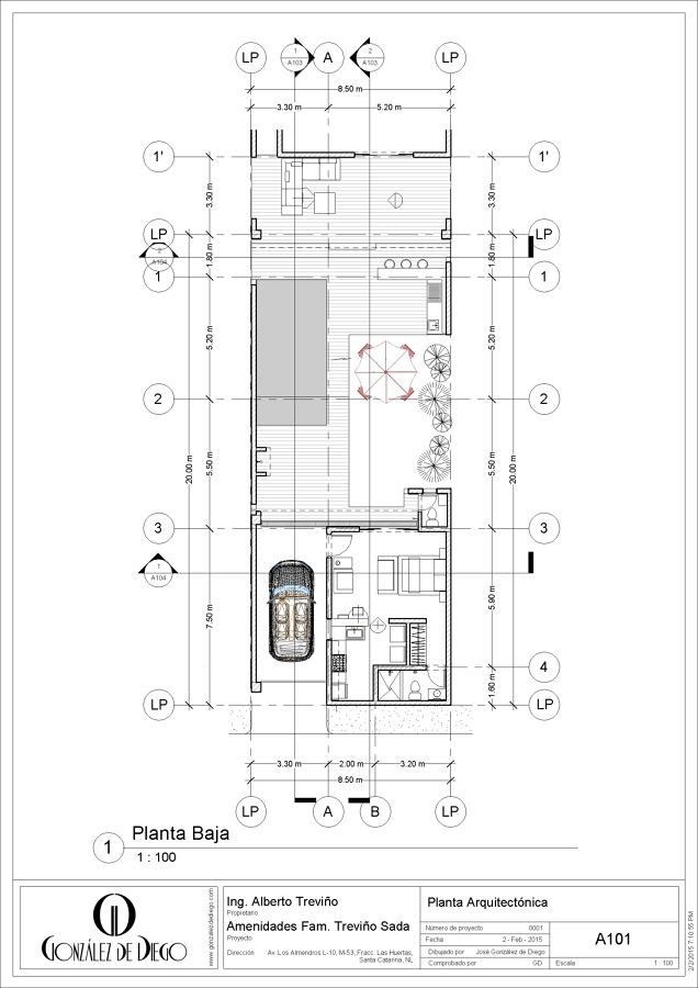Foto planta arquitect nica de gonz lez de diego 232387 for Planta arquitectonica biblioteca