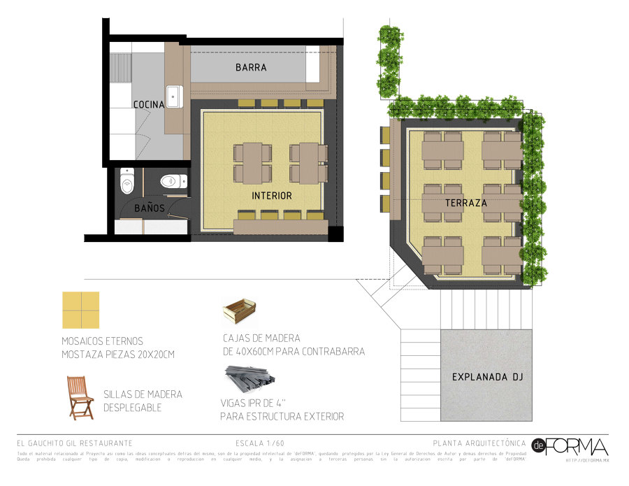 Gauchito gil ideas arquitectos for Oficinas planta arquitectonica