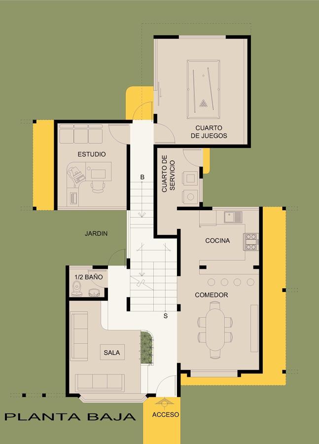 foto planta baja casa de campo de casas de elite 142672