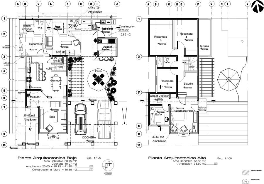 Remodelacion de casa habitacion dra vargas ideas for Plantas arquitectonicas de casas
