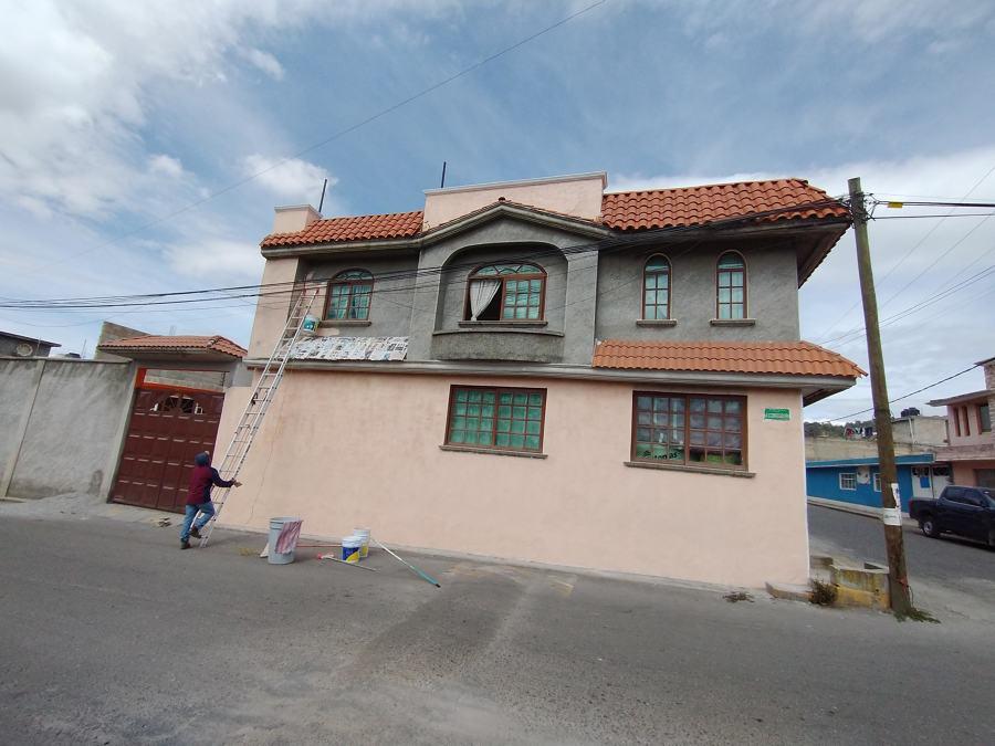 protegiendo teja en fachada