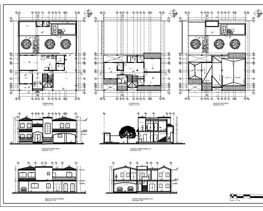 Foto proyecto arquitectonico casa marin de arq israel for Pie de plano arquitectonico pdf