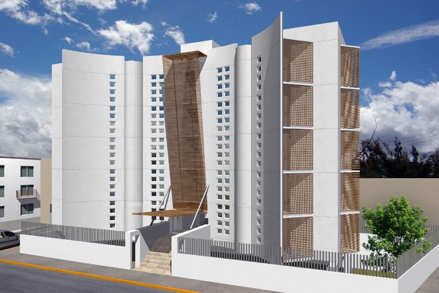 Foto proyecto arquitectonico de edificio 10 departamentos for Edificio de departamentos planos