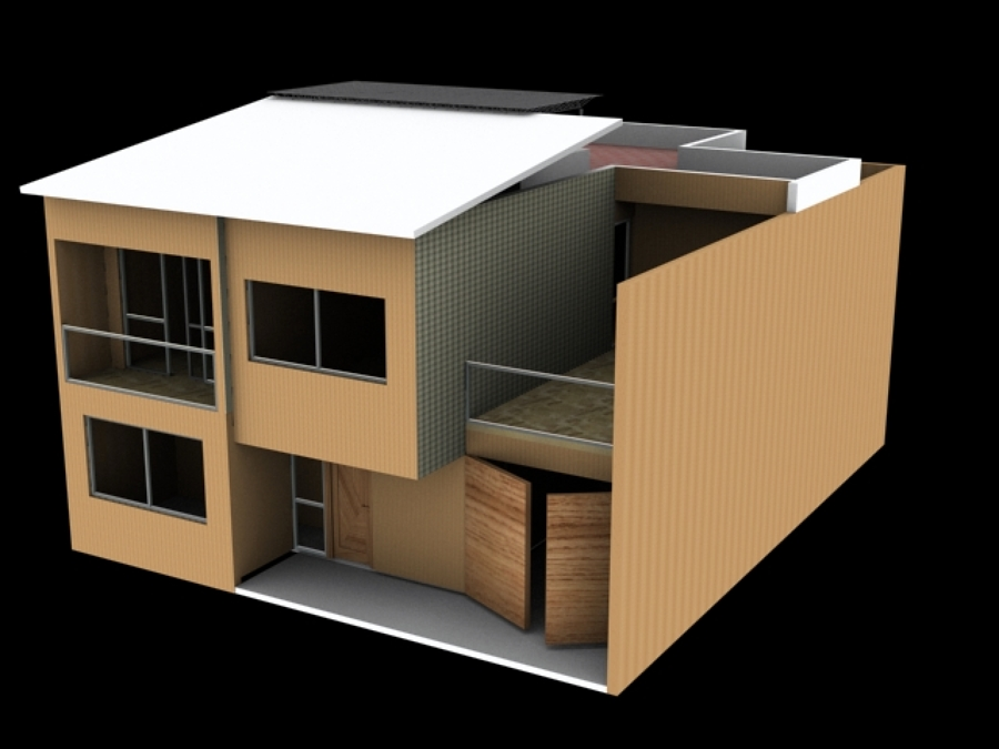 Foto proyecto casa habitaci n en chalco de proyecto for Proyecto casa habitacion minimalista