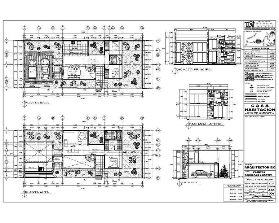Foto proyecto de casa habitacion de proyectos for Planos de casa habitacion