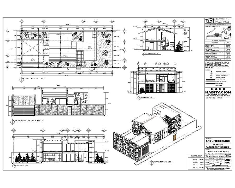 Proyecto de casa habitaci n ideas arquitectos for Plantas arquitectonicas de casas