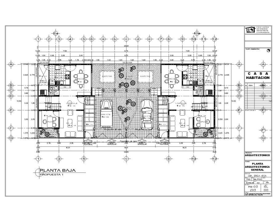 Foto proyecto de casa habitacion de proyectos for Tipos de planos arquitectonicos pdf