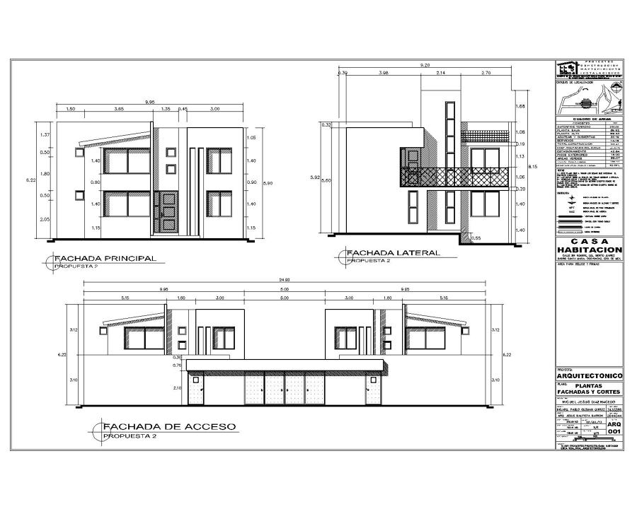 Foto proyecto de casa habitacion de proyectos for Proyectos casas minimalistas