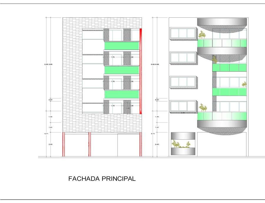 Proyecto de departamentos residenciales PIRAMIDE