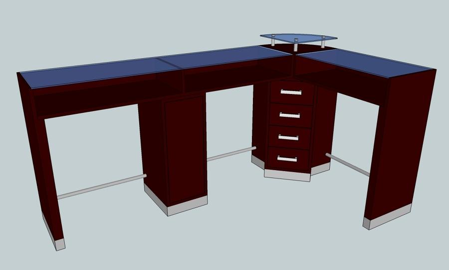 Proyecto de mobiliario para salon de estetica y u as for Mobiliario para salon