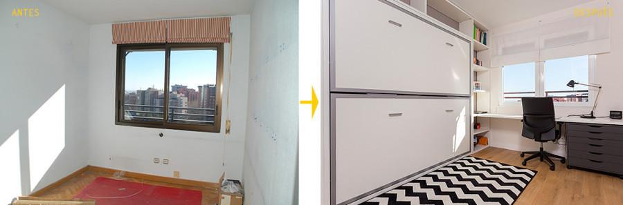 Antes y después remodelación cuarto