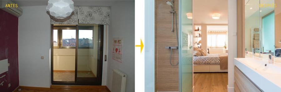 Antes y después remodelación baño