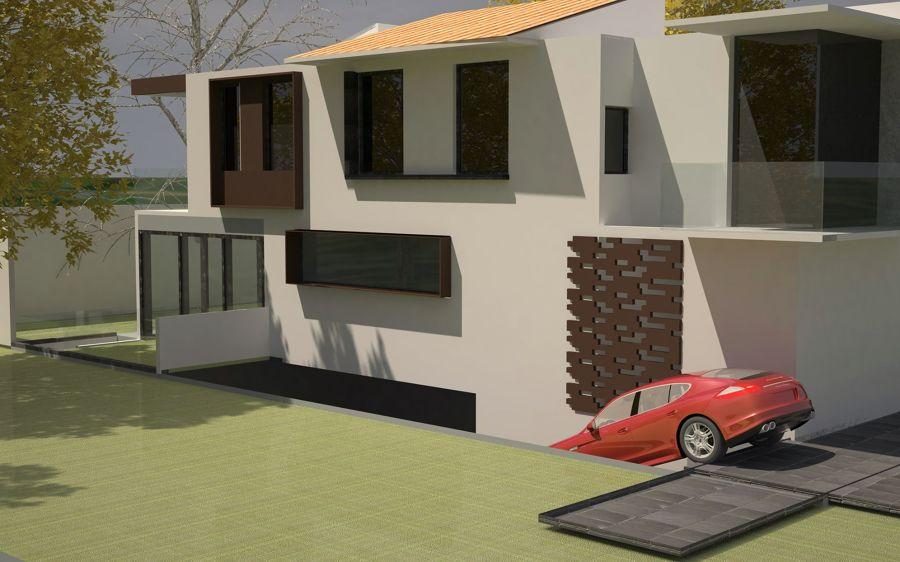Proyecto Vista Horizonte, Fachada Lateral