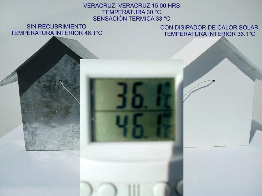 Prueba de temperatura en maquetas