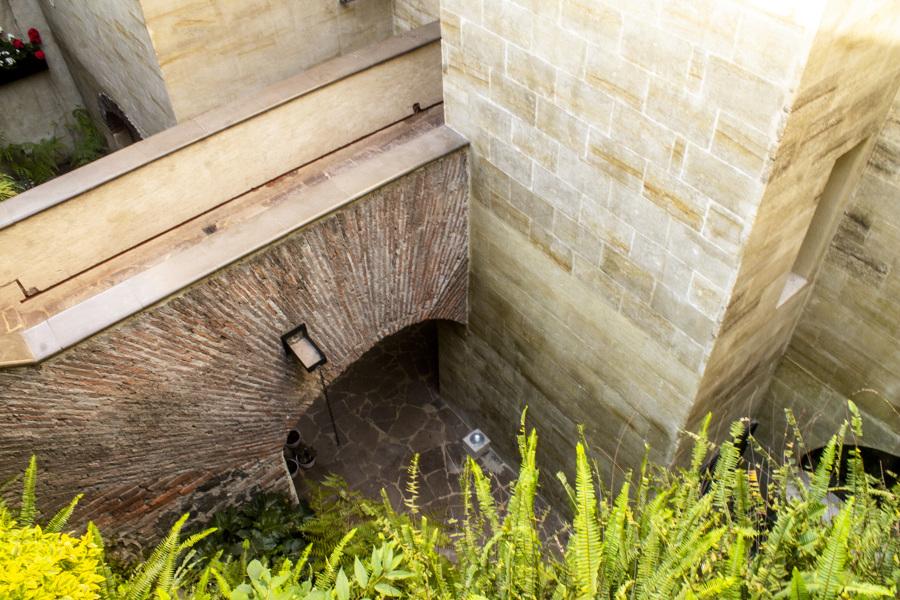 Puente de acceso desde la cochera