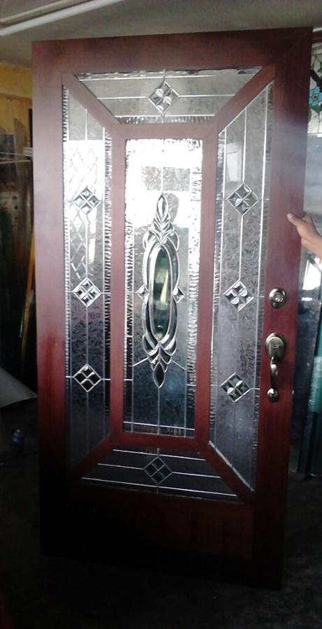Puertas con vitral ideas canceler a aluminio for Precio de puertas de tambor en home depot