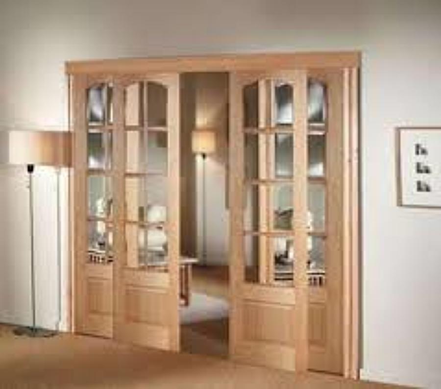 Foto puerta de vidrieras dobles de interior de - Vidrieras para puertas ...
