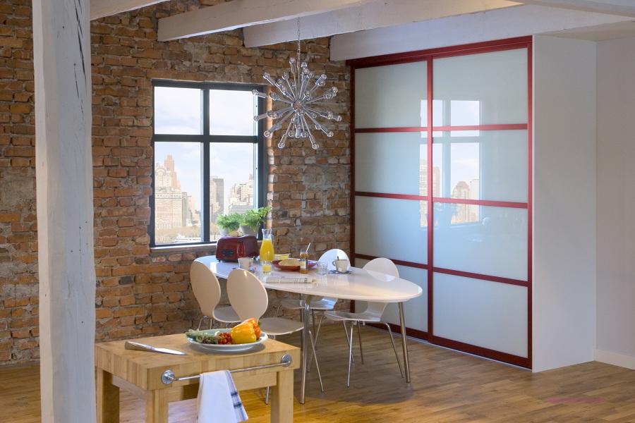 Puertas de alacena con vidrio blanco